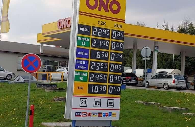 Cena benzinu padá. Litr se dá natankovat i za 21,90 Kč